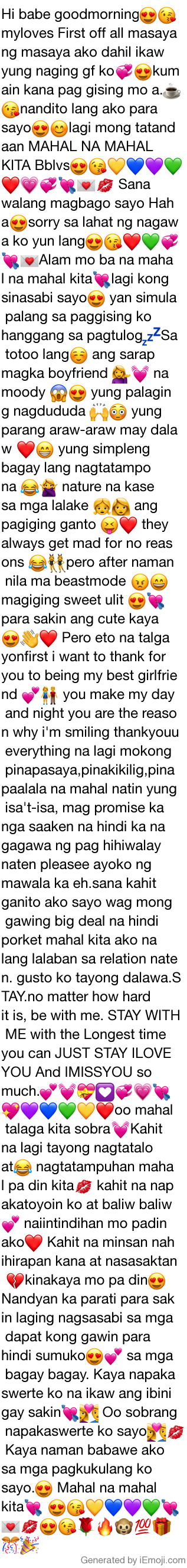 Sweet text messages tagalog Pinoy Text