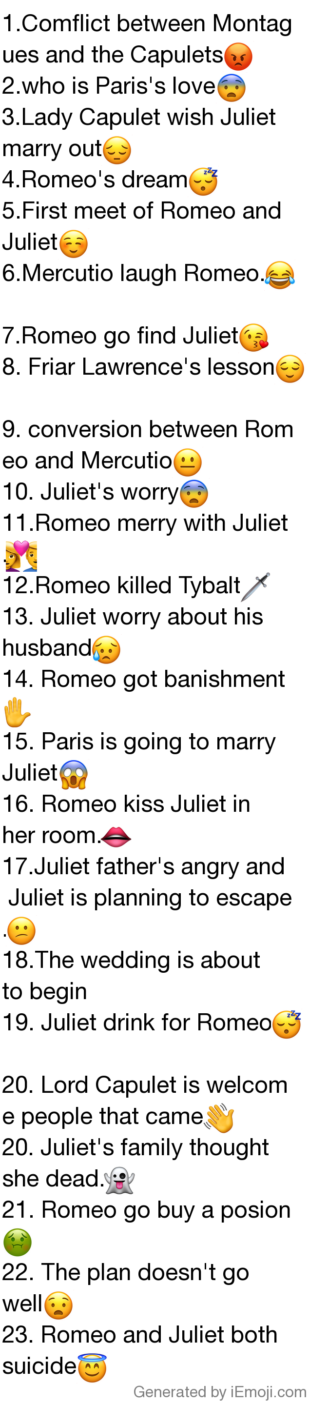 Find The Emoji Wedding.Myemoji Myemoji 1 Comflict Between Montagues And The Capulets