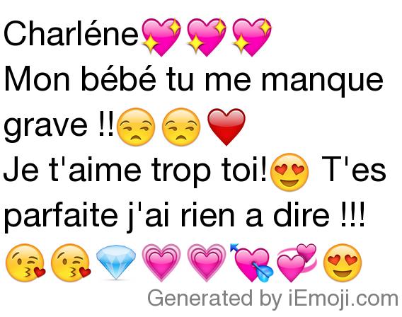 Message Charléne Mon Bébé Tu Me Manque Grave